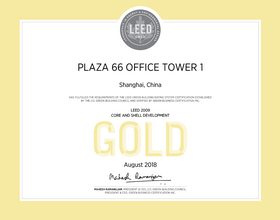 Certification under Leadership in Energy and Environmental Design (LEED)