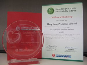 Hang Seng Corporate Sustainability Index and the Hang Seng (Mainland and HK) Corporate Sustainability Index
