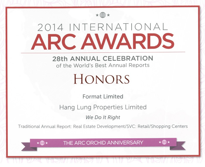 """Traditional Annual Report: Real Estate Development/SVC – Retail/Shopping Centers"" Honor Award"