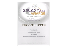 """Annual Reports – Overall Presentation: Real Estate"" Bronze Award"