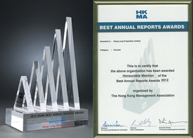 The Bronze Prize and The Honourable Mention in the General Category of Best Annual Reports Awards