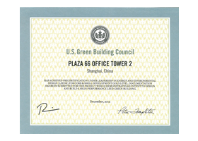 Precertification under Leadership in Energy and Environmental Design (LEED) for Core and Shell Development – Gold Level