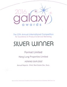 Galaxy Awards 2016 – Silver Award
